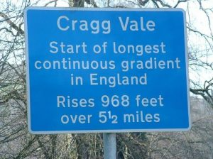 Cragg Vale Ascent Sign