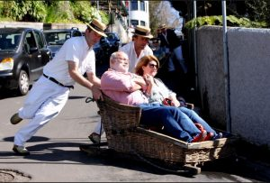 Toboggan In Funchal, Madeira. Sadly, not Huddersfield.