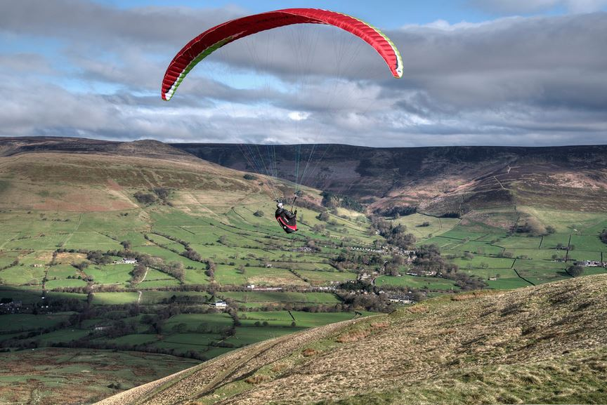 Bedsheet Flying Over Derbyshire