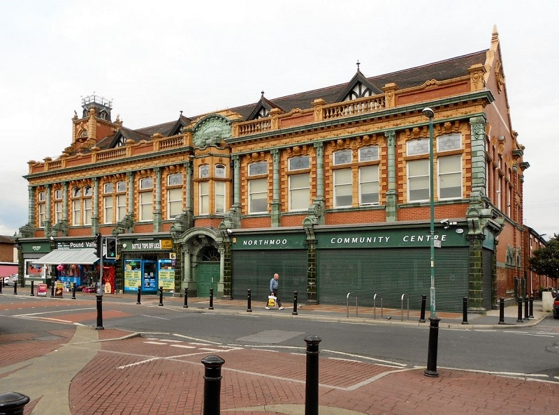 Northmoor Road, Longsight. Former Beswick Co-op Assembly Hall Building