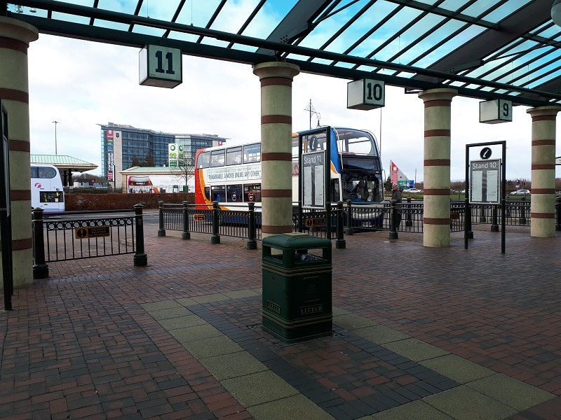 Trafford Centre Bus Station, January 2019