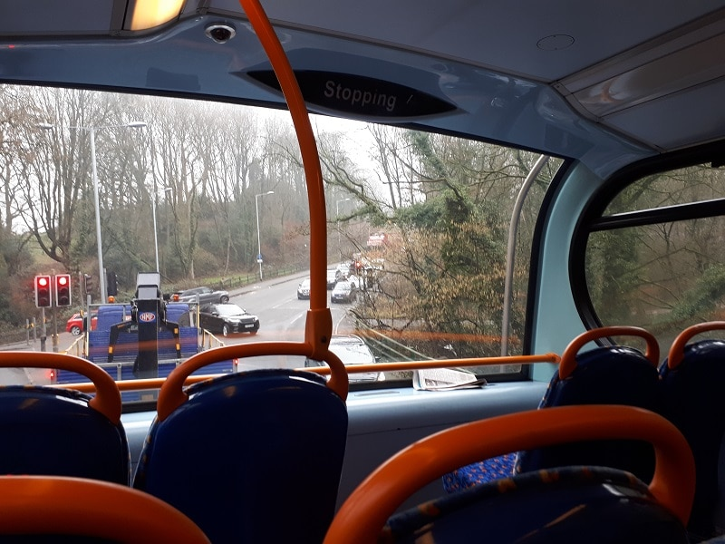 358 Bus Near Otterspool, On the Way To Marple