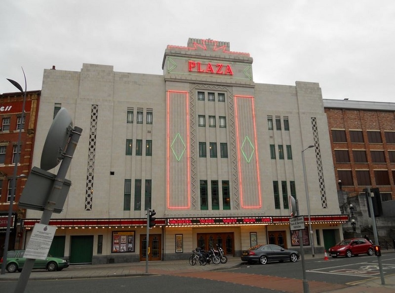 Stockport Plaza on a cloudy day