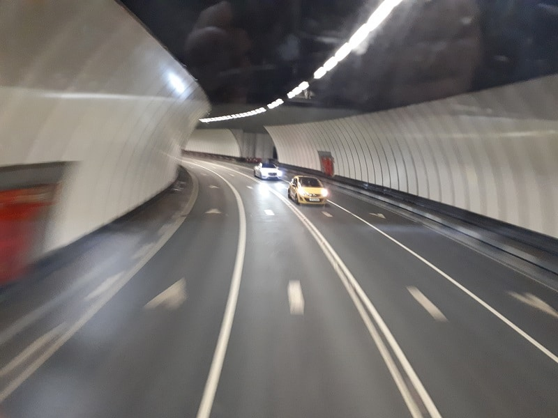 Blurry pic of the Queensway Tunnel between Liverpool and Birkenhead. 23/3/19.