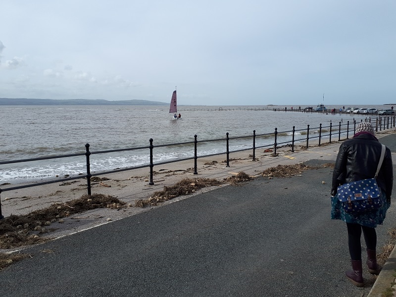 West Kirby Marine Lake at high tide. 23/3/19.