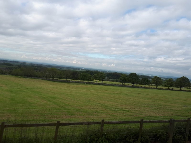 The Bolton countryside above Lostock (ish). From the top deck of the 125 bus on 19/5/19.