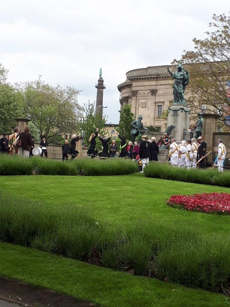 Morris Dancers in Liverpool. St John's Gardens. 19/5/19.