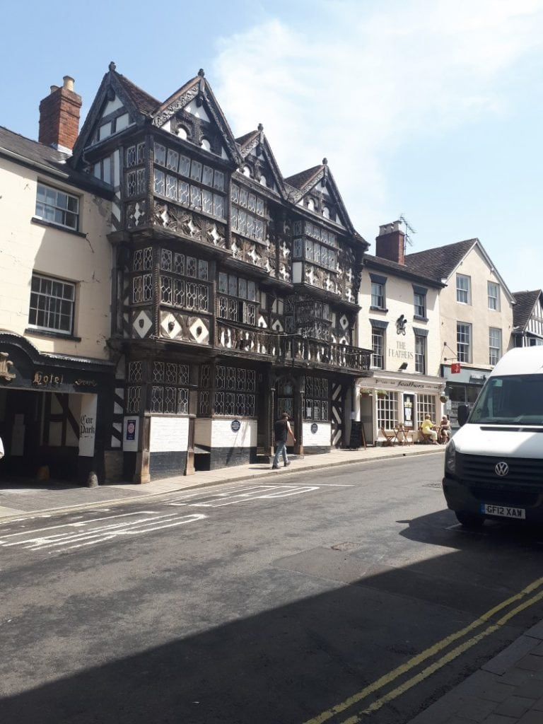 The Feathers, Ludlow. Definitely haunted, I reckon. 28/6/19.