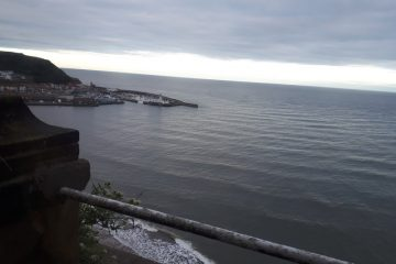 View from my bedroom window at the Grand Hotel, Scarborough, October 2019. The extra fiver for a sea view is worth it.