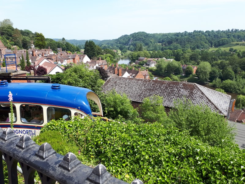 Bridgnorth Cliff Railway from High Town. 29/6/19