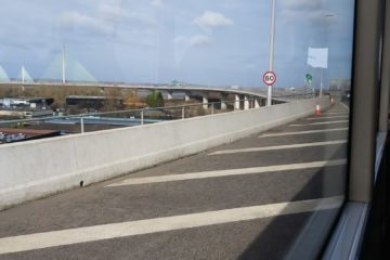 Mersey Gateway Bridge from the No. 62 bus from Warrington to Widnes